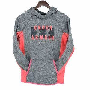 Under Armour peach-pink grey pullover hoodie
